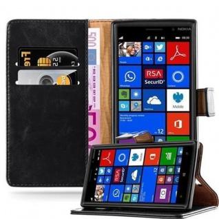 Cadorabo Hülle für Nokia Lumia 830 in GRAPHIT SCHWARZ Handyhülle mit Magnetverschluss, Standfunktion und Kartenfach Case Cover Schutzhülle Etui Tasche Book Klapp Style