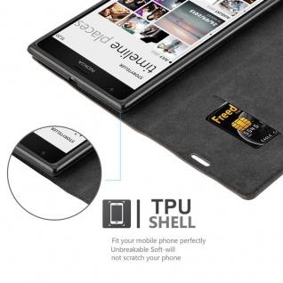 Cadorabo Hülle für Nokia Lumia 1520 in KAFFEE BRAUN - Handyhülle mit Magnetverschluss, Standfunktion und Kartenfach - Case Cover Schutzhülle Etui Tasche Book Klapp Style - Vorschau 2