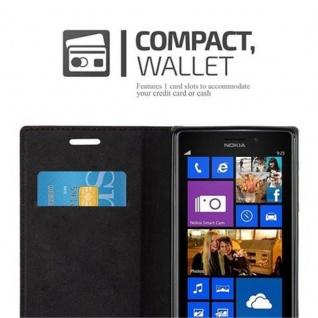 Cadorabo Hülle für Nokia Lumia 925 in APFEL ROT Handyhülle mit Magnetverschluss, Standfunktion und Kartenfach Case Cover Schutzhülle Etui Tasche Book Klapp Style - Vorschau 5