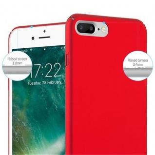 Cadorabo Hülle für Apple iPhone 8 PLUS / iPhone 7 PLUS / iPhone 7S PLUS in METALL ROT - Hardcase Handyhülle aus Plastik gegen Kratzer und Stöße - Schutzhülle Bumper Ultra Slim Back Case Hard Cover - Vorschau 5
