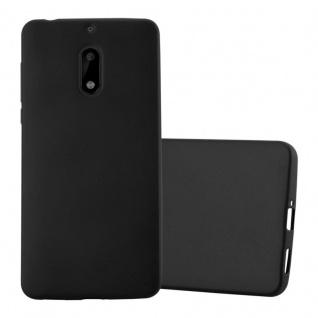 Cadorabo Hülle für Nokia 6 2017 in METALLIC SCHWARZ - Handyhülle aus flexiblem TPU Silikon - Silikonhülle Schutzhülle Ultra Slim Soft Back Cover Case Bumper