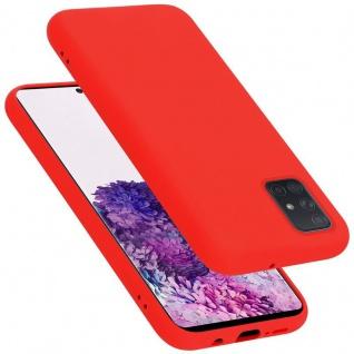 Cadorabo Hülle für Samsung Galaxy A71 in LIQUID ROT Handyhülle aus flexiblem TPU Silikon Silikonhülle Schutzhülle Ultra Slim Soft Back Cover Case Bumper