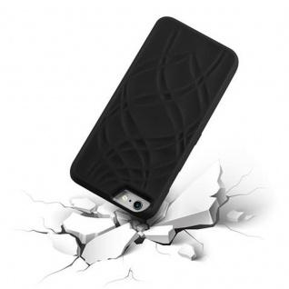 Cadorabo - TPU Hard Cover für Apple iPhone 6 PLUS / iPhone 6S PLUS mit Muster, Spiegel und 3 Kartenfächer ? Case Schutzhülle in SCHWARZ - Vorschau 5