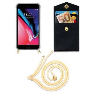 Cadorabo Handy Kette für Apple iPhone 8 PLUS / 7 PLUS / 7S PLUS in CREME BEIGE - Silikon Necklace Umhänge Hülle mit Gold Ringen, Kordel Band Schnur und abnehmbarem Etui ? Schutzhülle - Vorschau 5