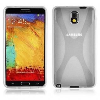 Cadorabo Hülle für Samsung Galaxy NOTE 3 in HALB TRANSPARENT ? Handyhülle aus flexiblem TPU Silikon ? Silikonhülle Schutzhülle Ultra Slim Soft Back Cover Case Bumper