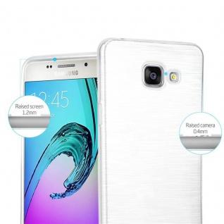 Cadorabo Hülle für Samsung Galaxy A5 2016 in SILBER - Handyhülle aus flexiblem TPU Silikon - Silikonhülle Schutzhülle Ultra Slim Soft Back Cover Case Bumper - Vorschau 2