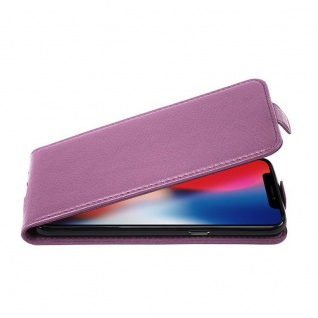 Cadorabo Hülle für Apple iPhone X / XS in BORDEAUX LILA - Handyhülle im Flip Design aus strukturiertem Kunstleder - Case Cover Schutzhülle Etui Tasche Book Klapp Style