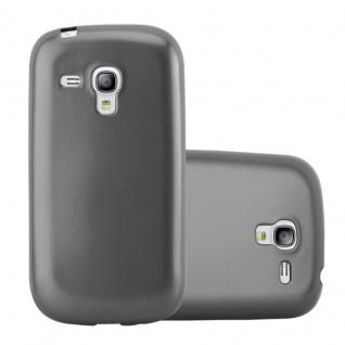 Cadorabo Hülle für Samsung Galaxy S3 MINI in METALLIC GRAU - Handyhülle aus flexiblem TPU Silikon - Silikonhülle Schutzhülle Ultra Slim Soft Back Cover Case Bumper