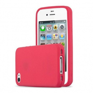 Cadorabo Hülle für Apple iPhone 4 / iPhone 4S in FROSTY ROT - Hardcase Handyhülle aus Plastik gegen Kratzer und Stöße - Schutzhülle Bumper Ultra Slim Back Case Hard Cover - Vorschau 5
