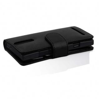 Cadorabo Hülle für Sony Xperia S in KAVIAR SCHWARZ - Handyhülle aus glattem Kunstleder mit Standfunktion und Kartenfach - Case Cover Schutzhülle Etui Tasche Book Klapp Style - Vorschau 3
