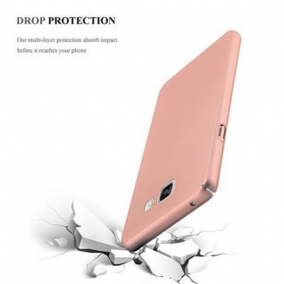 Cadorabo Hülle für Samsung Galaxy A3 2016 in METALL ROSE GOLD - Hardcase Handyhülle aus Plastik gegen Kratzer und Stöße - Schutzhülle Bumper Ultra Slim Back Case Hard Cover - Vorschau 5
