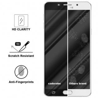 Cadorabo Vollbild Panzer Folie für Samsung Galaxy A9 2016 - Schutzfolie in TRANSPARENT mit SCHWARZ - Gehärtetes (Tempered) Display-Schutzglas in 9H Härte mit 3D Touch Kompatibilität - Vorschau 3
