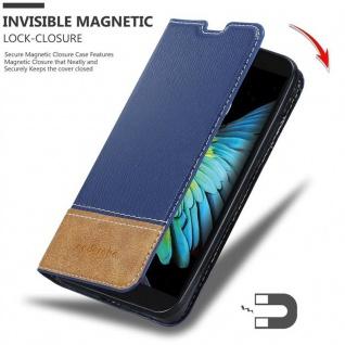 Cadorabo Hülle für LG K10 2016 in DUNKEL BLAU BRAUN - Handyhülle mit Magnetverschluss, Standfunktion und Kartenfach - Case Cover Schutzhülle Etui Tasche Book Klapp Style - Vorschau 3
