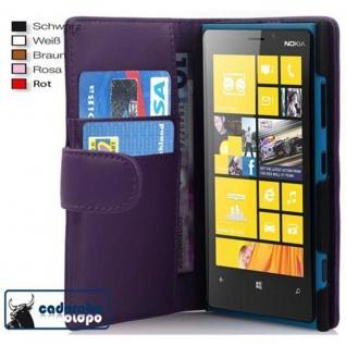 Cadorabo Hülle für Nokia Lumia 920 in FLIEDER VIOLETT ? Handyhülle aus glattem Kunstleder mit Standfunktion und Kartenfach ? Case Cover Schutzhülle Etui Tasche Book Klapp Style