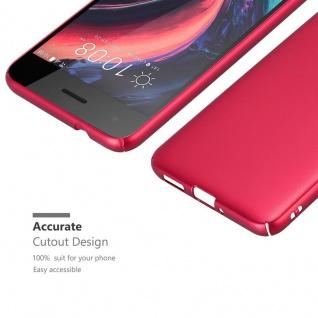 Cadorabo Hülle für HTC Desire 10 PRO in METALL ROT ? Hardcase Handyhülle aus Plastik gegen Kratzer und Stöße ? Schutzhülle Bumper Ultra Slim Back Case Hard Cover - Vorschau 5