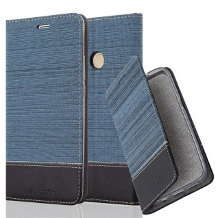 Cadorabo Hülle für Xiaomi Mi MAX 2 in DUNKEL BLAU SCHWARZ - Handyhülle mit Magnetverschluss, Standfunktion und Kartenfach - Case Cover Schutzhülle Etui Tasche Book Klapp Style