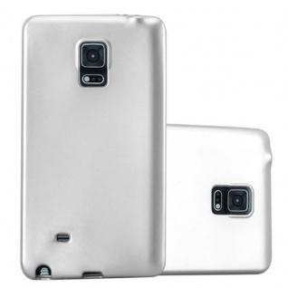 Cadorabo Hülle für Samsung Galaxy NOTE EDGE in METALLIC SILBER - Handyhülle aus flexiblem TPU Silikon - Silikonhülle Schutzhülle Ultra Slim Soft Back Cover Case Bumper
