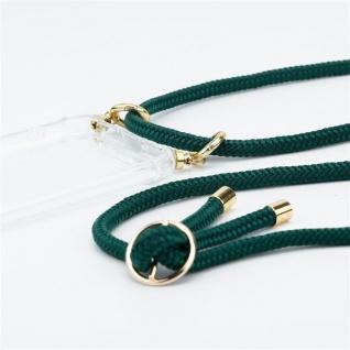 Cadorabo Handy Kette für Oppo A12 in ARMEE GRÜN Silikon Necklace Umhänge Hülle mit Gold Ringen, Kordel Band Schnur und abnehmbarem Etui Schutzhülle - Vorschau 3