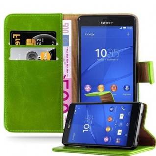 Cadorabo Hülle für Sony Xperia Z3 Compact in GRAS GRÜN - Handyhülle mit Magnetverschluss, Standfunktion und Kartenfach - Case Cover Schutzhülle Etui Tasche Book Klapp Style
