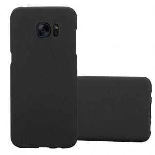 Cadorabo Hülle für Samsung Galaxy S7 EDGE in FROSTY SCHWARZ - Hardcase Handyhülle aus Plastik gegen Kratzer und Stöße - Schutzhülle Bumper Ultra Slim Back Case Hard Cover