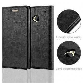 Cadorabo Hülle für HTC ONE M7 (1.Generation) in NACHT SCHWARZ - Handyhülle mit Magnetverschluss, Standfunktion und Kartenfach - Case Cover Schutzhülle Etui Tasche Book Klapp Style - Vorschau 2