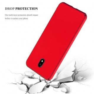 Cadorabo Hülle für Samsung Galaxy J7 2017 in METALL ROT Hardcase Handyhülle aus Plastik gegen Kratzer und Stöße Schutzhülle Bumper Ultra Slim Back Case Hard Cover