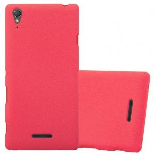 Cadorabo Hülle für Sony Xperia T3 in FROST ROT - Handyhülle aus flexiblem TPU Silikon - Silikonhülle Schutzhülle Ultra Slim Soft Back Cover Case Bumper