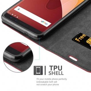 Cadorabo Hülle für WIKO VIEW in APFEL ROT Handyhülle mit Magnetverschluss, Standfunktion und Kartenfach Case Cover Schutzhülle Etui Tasche Book Klapp Style - Vorschau 3