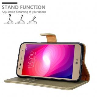 Cadorabo Hülle für LG X Power 2 in CAPPUCCINO BRAUN - Handyhülle mit Magnetverschluss, Standfunktion und Kartenfach - Case Cover Schutzhülle Etui Tasche Book Klapp Style - Vorschau 4