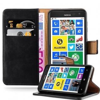 Cadorabo Hülle für Nokia Lumia 625 in GRAPHIT SCHWARZ ? Handyhülle mit Magnetverschluss, Standfunktion und Kartenfach ? Case Cover Schutzhülle Etui Tasche Book Klapp Style