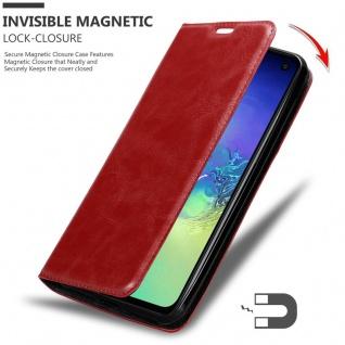 Cadorabo Hülle für Samsung Galaxy S10e in APFEL ROT Handyhülle mit Magnetverschluss, Standfunktion und Kartenfach Case Cover Schutzhülle Etui Tasche Book Klapp Style - Vorschau 3