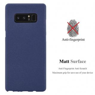 Cadorabo Hülle für Samsung Galaxy NOTE 8 in FROST DUNKEL BLAU - Handyhülle aus flexiblem TPU Silikon - Silikonhülle Schutzhülle Ultra Slim Soft Back Cover Case Bumper - Vorschau 3
