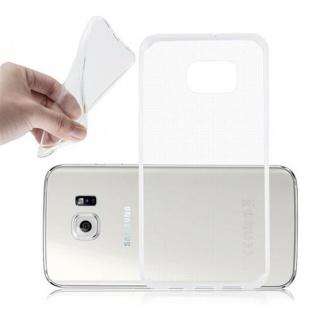 Cadorabo Hülle für Samsung Galaxy S6 EDGE in VOLL TRANSPARENT - Handyhülle aus flexiblem TPU Silikon - Silikonhülle Schutzhülle Ultra Slim Soft Back Cover Case Bumper
