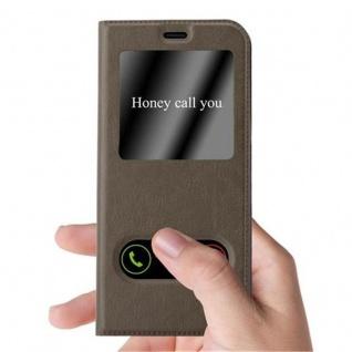 Cadorabo Hülle für Samsung Galaxy S8 PLUS in STEIN BRAUN ? Handyhülle mit Magnetverschluss, Standfunktion und 2 Sichtfenstern ? Case Cover Schutzhülle Etui Tasche Book Klapp Style - Vorschau 2