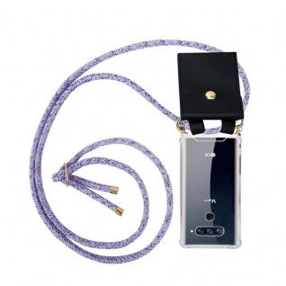 Cadorabo Handy Kette für LG V40 in UNICORN Silikon Necklace Umhänge Hülle mit Gold Ringen, Kordel Band Schnur und abnehmbarem Etui Schutzhülle