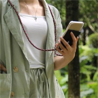 Cadorabo Handy Kette für Apple iPhone 8 PLUS / 7 PLUS / 7S PLUS in ROT BLAU GELB - Silikon Necklace Umhänge Hülle mit Silber Ringen, Kordel Band Schnur und abnehmbarem Etui - Schutzhülle - Vorschau 3