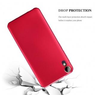 Cadorabo Hülle für HTC Desire 10 Lifestyle / Desire 825 in METALL ROT ? Hardcase Handyhülle aus Plastik gegen Kratzer und Stöße ? Schutzhülle Bumper Ultra Slim Back Case Hard Cover - Vorschau 3