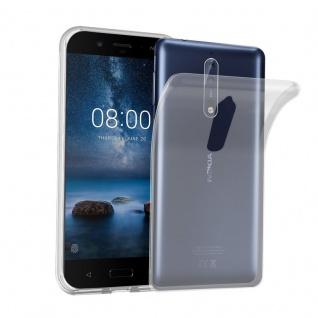Cadorabo Hülle für Nokia 8 2017 in VOLL TRANSPARENT - Handyhülle aus flexiblem TPU Silikon - Silikonhülle Schutzhülle Ultra Slim Soft Back Cover Case Bumper