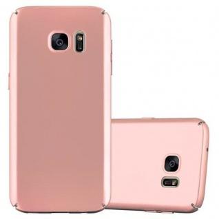 Cadorabo Hülle für Samsung Galaxy S7 in METALL ROSE GOLD - Hardcase Handyhülle aus Plastik gegen Kratzer und Stöße - Schutzhülle Bumper Ultra Slim Back Case Hard Cover