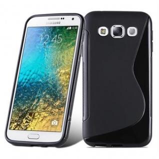 Cadorabo Hülle für Samsung Galaxy E5 2015 in OXID SCHWARZ ? Handyhülle aus flexiblem TPU Silikon ? Silikonhülle Schutzhülle Ultra Slim Soft Back Cover Case Bumper