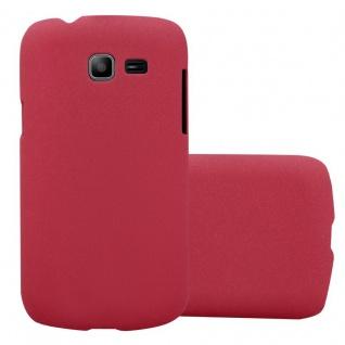 Cadorabo Hülle für Samsung Galaxy TREND LITE in FROSTY ROT - Hardcase Handyhülle aus Plastik gegen Kratzer und Stöße - Schutzhülle Bumper Ultra Slim Back Case Hard Cover