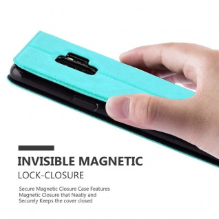 Cadorabo Hülle für Samsung Galaxy S9 in MINT TÜRKIS ? Handyhülle mit Magnetverschluss, Standfunktion und 2 Sichtfenstern ? Case Cover Schutzhülle Etui Tasche Book Klapp Style - Vorschau 5