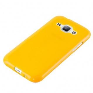 Cadorabo Hülle für Samsung Galaxy J1 2015 in JELLY GELB - Handyhülle aus flexiblem TPU Silikon - Silikonhülle Schutzhülle Ultra Slim Soft Back Cover Case Bumper - Vorschau 2