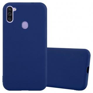 Cadorabo Hülle für Samsung Galaxy A11 Eu / M11 in CANDY DUNKEL BLAU Handyhülle aus flexiblem TPU Silikon Silikonhülle Schutzhülle Ultra Slim Soft Back Cover Case Bumper