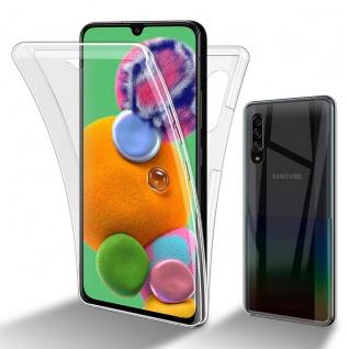 Cadorabo Hülle kompatibel mit Samsung Galaxy A90 5G in TRANSPARENT - 360° Full Body Handyhülle Front und Rückenschutz Rundumschutz Schutzhülle mit Displayschutz