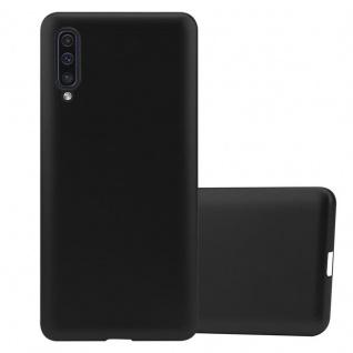 Cadorabo Hülle für Samsung Galaxy A50 in METALLIC SCHWARZ - Handyhülle aus flexiblem TPU Silikon - Silikonhülle Schutzhülle Ultra Slim Soft Back Cover Case Bumper