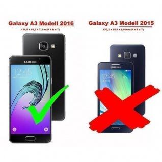 Cadorabo Hülle für Samsung Galaxy A3 2016 in APFEL ROT - Handyhülle mit Magnetverschluss, Standfunktion und Kartenfach - Case Cover Schutzhülle Etui Tasche Book Klapp Style