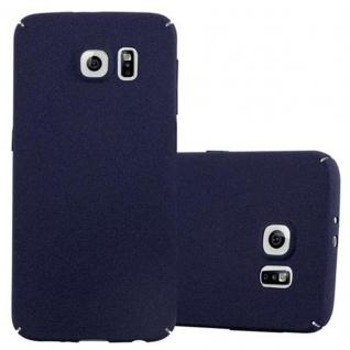 Cadorabo Hülle für Samsung Galaxy S6 in FROSTY BLAU Hardcase Handyhülle aus Plastik gegen Kratzer und Stöße Schutzhülle Bumper Ultra Slim Back Case Hard Cover