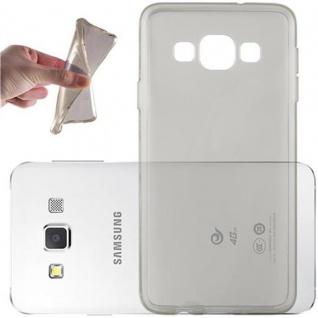 Cadorabo Hülle für Samsung Galaxy A3 2015 in TRANSPARENT SCHWARZ - Handyhülle aus flexiblem TPU Silikon - Silikonhülle Schutzhülle Ultra Slim Soft Back Cover Case Bumper