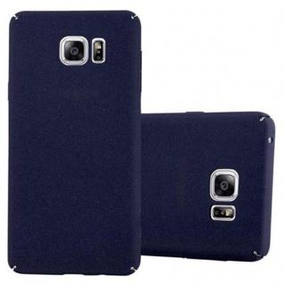 Cadorabo Hülle für Samsung Galaxy NOTE 5 in FROSTY BLAU - Hardcase Handyhülle aus Plastik gegen Kratzer und Stöße - Schutzhülle Bumper Ultra Slim Back Case Hard Cover